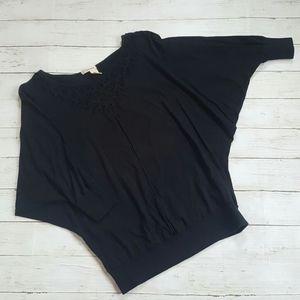 Dkny jeans szM black dolman sleeve top